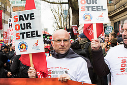 "London, April 16th 2016. Protesters gather on Gower Street as thousands of people supported by trade unions and other rights organisations demonstrate against the policies of the Tory government, including austerity and perceived favouring of ""the rich"" over ""the poor""."