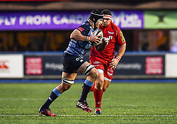 Cardiff Blues' George Earle in action - Mandatory by-line: Craig Thomas/Replay images - 31/12/2017 - RUGBY - Cardiff Arms Park - Cardiff , Wales - Blues v Scarlets - Guinness Pro 14