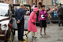 © Licensed to London News Pictures. 22/11/2012. Bristol, UK.  Queen Elizabeth ll and the Duke of Edinburgh visit the Bristol Old Vic Theatre in King Street, Bristol.  22 November 2012..Photo credit : Simon Chapman/LNP