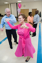 Couples dancing at a tea dance,