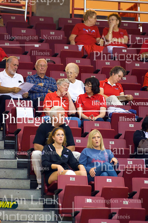29 AUG 2009:  The Redbirds of Illinois State were defeated by the Golden Eagles of Oral Roberts in 4 sets during play in the Redbird Classic on Doug Collins Court inside Redbird Arena in Normal Illinois
