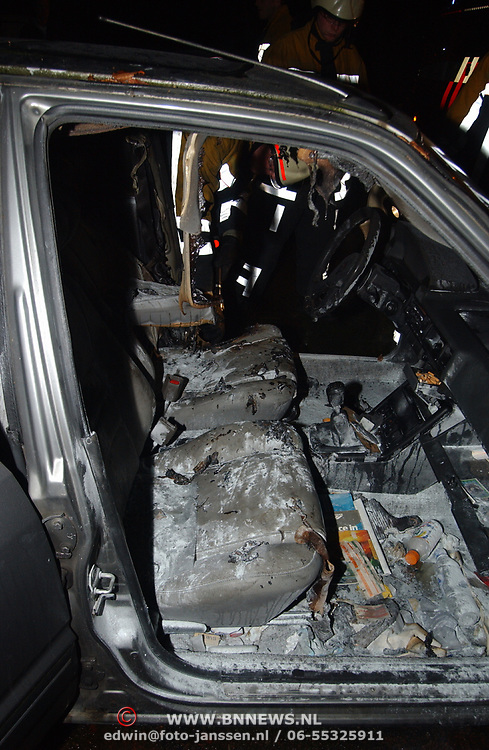 Autobrand Bever Huizen, verbrand interieur
