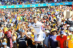 South Africa: Gauteng: Orlando Pirates followers come in large numbers to support their team when they play against Kaizer Chiefs during the Soweto Derby for the Absa premiership at FNB stadium, Gauteng.<br />Picture: Itumeleng English/African News Agency (ANA)