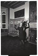 Aldine Honey, Nathalie Hambro birthday Dada dance. Chelsea. London. 28 January 1988.