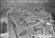 """Ackroyd 06803-3. """"Commonwealth Inc. Aerials of NW district. Guilds Lake district. April 23, 1956"""" (5x7"""")"""