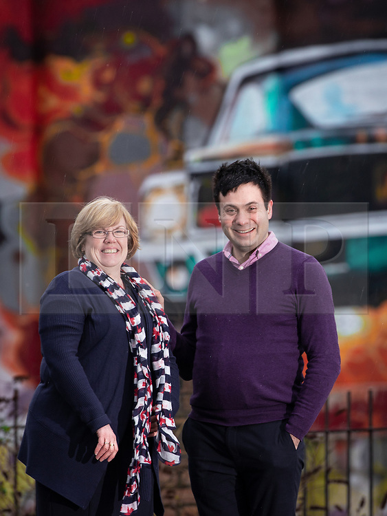 © Licensed to London News Pictures. 18/01/2019. Liverpool , UK. JULIE ROACH and BEN HARRIS , both of whom have lived experience of the detrimental effects of mental health stigma - and support the campaign - in front of the former Littlewoods Building in Liverpool . Ava Max's number one single , Sweet but Psycho , has been criticised by the Zero Suicide Alliance (ZSA), a suicide prevention campaign group . In an open letter to the pop star and UK broadcasters , co-signed by Liverpool Mayor Steve Rotherham and Luciana Berger MP , the ZSA say the song's lyrics and the video's imagery reinforce negative perceptions about people with mental health issues and undermines their effort to combat stigma , which can prevent suicidal people from seeking help , with potentially life-threatening consequences . Photo credit: Joel Goodman/LNP