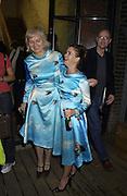 Brigitte Stepputtis and  Abigail Lane. Abigail Lane, Tomorrows World, Yesterdays Fever. Victoria Miro and Great Eastern Rooms. 3 October 2001. © Copyright Photograph by Dafydd Jones 66 Stockwell Park Rd. London SW9 0DA Tel 020 7733 0108 www.dafjones.com