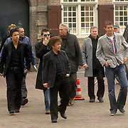 NLD/Utrecht/20060414 - Uitvaart Wout van Doleweerd, Jan Smit, george The en zoon Jordi, Jaap en Alois Buis, Jan Keizer