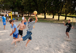 "Kids during Handball Summer Camp named ""Zormanov rokometni tabor"" on June 29, 2013 in Savudrija, Croatia. (Photo by Vid Ponikvar / Sportida.com)"