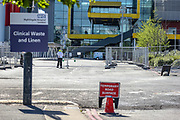 """The NHS Nightingale hospital in London is seen deserted on Wednesday, May 20, 2020. It will be kept """"in hibernation"""" in case the second wave of Covid-19 infections emerges. (Photo/ Vudi Xhymshiti)"""