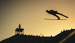 29.09.2018, Energie AG Skisprung Arena, Hinzenbach, AUT, FIS Ski Sprung, Sommer Grand Prix, Hinzenbach, im Bild Jaka Hvala (SLO) // Jaka Hvala of Slovenia during FIS Ski Jumping Summer Grand Prix at the Energie AG Skisprung Arena, Hinzenbach, Austria on 2018/09/29. EXPA Pictures © 2018, PhotoCredit: EXPA/ JFK