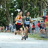 Bedok Reservoir Park, Wednesday, March 22, 2017 — Anglo-Chinese School (Independent) fended off Hwa Chong Institution in a tie-breaker to win the National Schools Cross Country B Division team title after an unprecedented tie in points. It came down to each school's fourth-fastest B Division runner – ACS(I) had Joshua Loo in 11th, while HCI's George Lai was 15th.<br /> <br /> Raffles Institution's Armand Dhilawala Mohan won the B boys individual title, finishing the 4.75km route in 16 minutes 49 seconds, with HCI's Joshua Rajendran and Ethan Yan second and fourth, respectively. St Andrew's Secondary School's Jarrell Lim was third. Story: https://www.redsports.sg/2017/03/23/nationals-cross-country-acsi/