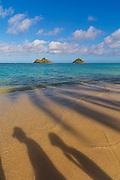 Mokulua Islands, Lanikai Beach, Kailua, Oahu, Hawaii