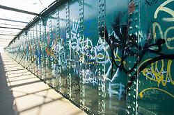 Footbridge with Graffiti