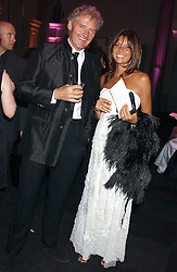 COUNT LEOPOLD & COUNTESS DEBONAIRE VON BISMARCK  at the Conservative Party's Black & White Ball held at Old Billingsgate, 16 Lower Thames Street, London EC3 on 8th February 2006.<br />