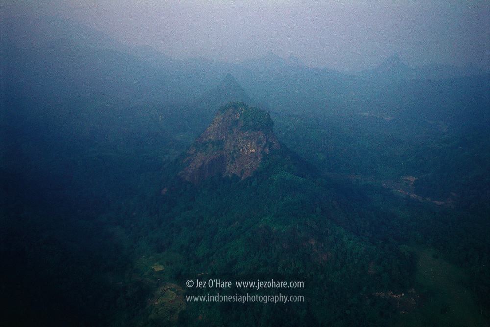 Mount Rungking and Mount Aseupan, Cidoro, Tegalwaru, near Loji, Karawang, West Java, Indonesia.