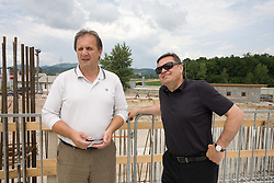 Ivan Simic of NZS , Mayor of Ljubljana Zoran Jankovic at open door day 1 year before opening of new football stadium and sports hall in Stozice,  on June 30, 2009, at Stadium Stozice, Ljubljana, Slovenia. (Photo by Vid Ponikvar / Sportida)