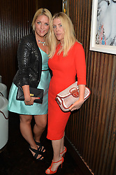 Left to right, GABBY WICKHAM and FIONA LEAHY at the 'Ladies of Influence Lunch' held at Marcus, The Berkeley Hotel, London on 12th May 2014.