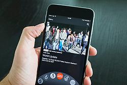 BBC IPlayer Radio streaming app showing BBC World Service  on an iPhone 6 Plus smart phone