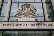 Westminster Magistrates Court in London, England, United Kingdom.