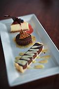 Detail of Dessert at Fine Dining Restaurant
