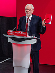 © Licensed to London News Pictures. 26/11/2019. London, UK. Jeremy Corbyn takes the stand at the Bernie Grant Arts Centre in Tottenham to launch Labour's new Race and Faith manifesto.<br /> Labour Leader, Jeremy Corbyn alongside Shadow Home Secretary, Diane Abbott and Shadow Equalities Women's Secretary, Dawn Butler launch Labour's new Race and Faith manifesto which is the culmination of various consultations held across the country. Photo credit: Peter Manning/LNP