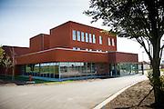 Loenhout, Belgium, Aug 18, 2009, Construction at Fluxys station, PHOTO © Christophe Vander Eecken