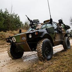 Campagne de tir ERC 90 Sagaie et AMX 10 RC du 2ème escadron du 4ème Régiment de Chasseurs au camp militaire de Mailly. <br /> Mars 2017 / Mailly le camp (10) / FRANCE<br /> <br /> Voir le reportage complet (115 photos) http://sandrachenugodefroy.photoshelter.com/gallery/2017-03-Campagne-de-tir-du-4eRCh-a-Mailly-Complet/G0000lZlDAtwkhgI/C0000yuz5WpdBLSQ