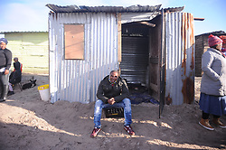 South Africa - Cape Town - 2 July - 2020 - Bulelani Qholani, the man who was seen in a video shared widely on social media being dragged naked from his Cape Town shack on Wednesday has appealed to President Cyril Ramaphosa to help him reclaim his dignity. Cape Town law-enforcement officers had robbed him of his dignity and of his rights as a human being. He said he wanted Ramaphosa and police minister Bheki Cele to ensure justice in the matter so that he could recover from the humiliation of appearing naked not only in front of his Khayelitsha neighbours but on a video that was widely shared. Photographer: Ayanda Ndamane/African News Agency(ANA)