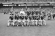 Galway team at the All Ireland Senior Hurling Final at Croke Park- Kilkenny v Galway, Kilkenny 2-12, Galway 1-8, 2nd September 1979. S Shinnors, N Mclnerney, C Hayes, A Fenton, J McDonagh (capt), S Silke, I Clarke, John Connolly, S Mahon, B Forde, F Burke, Joe Connolly, P J Molloy, N Lane, F Gantley, Subs, S Linnane for Forde, M Whelan for Burke, Referee G Ryan (Tipperary),