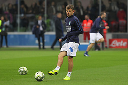 November 17, 2018 - Milan, Lombardia, Italy - Nicol Barella (Italy) before the Nations League football match between Italy and Portugal at Stadio Giuseppe Meazza on November 17, 2018 in Milan Italy..Final results: 0-0. (Credit Image: © Massimiliano Ferraro/NurPhoto via ZUMA Press)