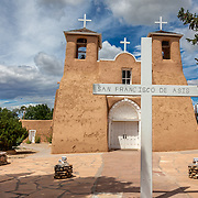 Built in the mid to late 1700s, San Francisco de Asis Church has been artistically recorded by 20th Century artists Georgia O'Keeffe, Ansel Adams, and others who were fascinated by its adobe contours and sculptural buttresses. Their artful depictions of the rustic architecture have made the church nationally famous.