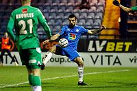 Jordan Williams. Stockport County FC 1-0 Yeovil Town FC. Vanarama National League. Edgeley Park. 6.2.21