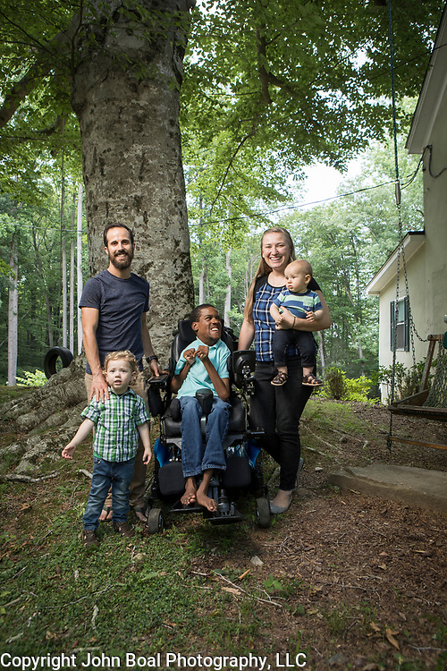 The Harms family, in Manassas, Virginia were featured in a cover story of the Novant Health seasonal newsletter, Healthier Together. Although thier adopted son, Donald, 20, suffers from Cerebral Palsy, that hasn't stopped the father, Michael, from running long-distance events with Donald, utilizing their customized racing wheelchair. When they participate in these events, they raise money for Ainsley's Angels of America, an organization that helps people with special needs participate in endurance events. For Novant Health