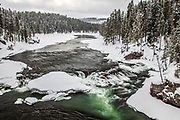 Yellowstone River during winter