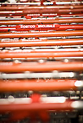 Jim Sinegal, CEO of Costco Wholesale.  Photographed by Brian Smale in Seattle, for BusinessWeek Magazine. Photos of Costco shopping carts.