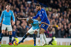 December 8, 2018 - London, Greater London, England - Ruben Loftus-Cheek of Chelsea and Fernandinho of Manchester City during the Premier League match between Chelsea and Manchester City at Stamford Bridge, London, England on 8 December 2018. (Credit Image: © AFP7 via ZUMA Wire)
