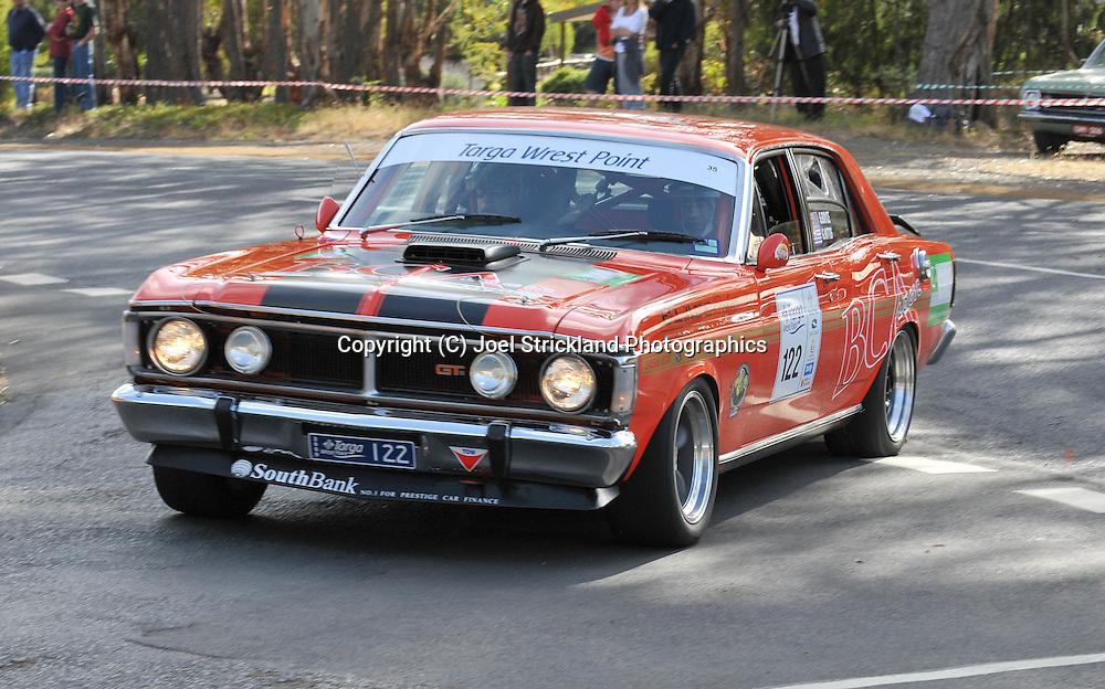 George Nittis & Stuart Boyce.1969 Ford XY GT HO.Day 2.Targa Wrest Point 2009.Southern Tasmania.1st of February 2009.(C) Joel Strickland Photographics.