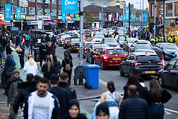 © Licensed to London News Pictures. 13/05/2021. Manchester, UK. People celebrate Eid-ul-Fitr , the end of a month of fasting during Ramadan , in Rusholme in Manchester . Photo credit: Joel Goodman/LNP