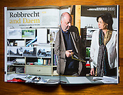 Icon magazine with a portrait of architects Robbrecht and Daem by Sander de Wilde