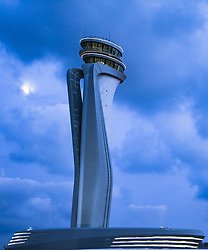 Exclusive - Airport Tower. The first phase of Istanbul's new airport is due to open in October 2018, and once it is complete, it is expected to become the world's busiest airport. Istanbul New Airport will be constructed over an area of 76.5 million square meters to the north of İstanbul, 35km away from the city centre. The construction will be carried out in four phases, and the first is scheduled to open on 29 October, Turkey's Republic Day. It will comprise of three runways and a terminal with a capacity for 90 million passengers. Once complete, the new airport will have six runways and will host flights going to more than 300 destinations. It will have an annual passenger capacity of up to 200 million people, making it the world's busiest airport. Photo by Tolga Adanali/Depo Photos/ABACAPRESS.COM