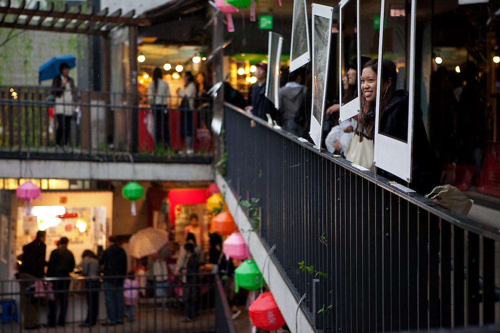 Einkaufs Passage im Zentrum der koreanischen Haupstadt Seoul. <br /> <br /> Shopping arcade in the center of the Korean capital Seoul.