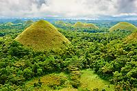 Philippines, archipel des Visayas, île de Bohol, Chocolate Hills // Philippines, Visayas islands, Bohol island, Chocolate Hills
