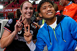 05-12-2019 JAP: Serbia - Netherlands, Kumamoto<br /> Fourth match groep A at 24th IHF Women's Handball World Championship, Netherlands win the fourth match against Serbia 23 - 36  / Lois Abbingh #8 of Netherlands