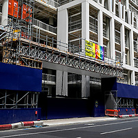 Building site scaffold;<br />