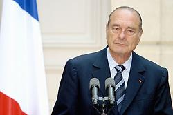September 21, 2016 - Paris, IDF, France - Le president Francais JACQUES CHIRAC . Reunion Franco - Allemande au palais de l'Elysee. (Credit Image: © Visual via ZUMA Press)