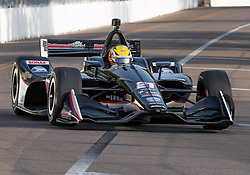 March 10, 2019 - St. Petersburg, FL, U.S. - ST. PETERSBURG, FL - MARCH 10: Ed Carpenter Racing driver Spencer Pigot (21) of United States during the IndyCar Series - Firestone Grand Prix Race on March 10 in St. Petersburg, FL. (Photo by Andrew Bershaw/Icon Sportswire) (Credit Image: © Andrew Bershaw/Icon SMI via ZUMA Press)