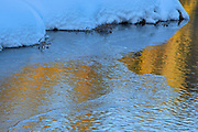 Reflection along a creek at sunset<br />
