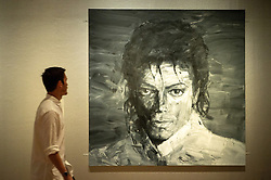 © Licensed to London News Pictures. 27/06/2018. London, UK. Painting titled In memory of Michael Jackson 1958-2009 (2017) by artist Yan Pei-Ming is shown as part of the Michael Jackson: On the Wall exhibition at the National Portrait Gallery. Photo credit: Ray Tang/LNP