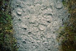 Footprints on the Hummocks Trail, Mt. St. Helens National Volcanic Monument, Washington, US
